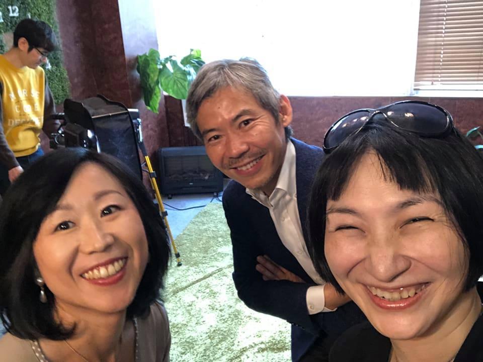 20181112小林文子さんと小山弘樹さんと佐藤安南の3ショット