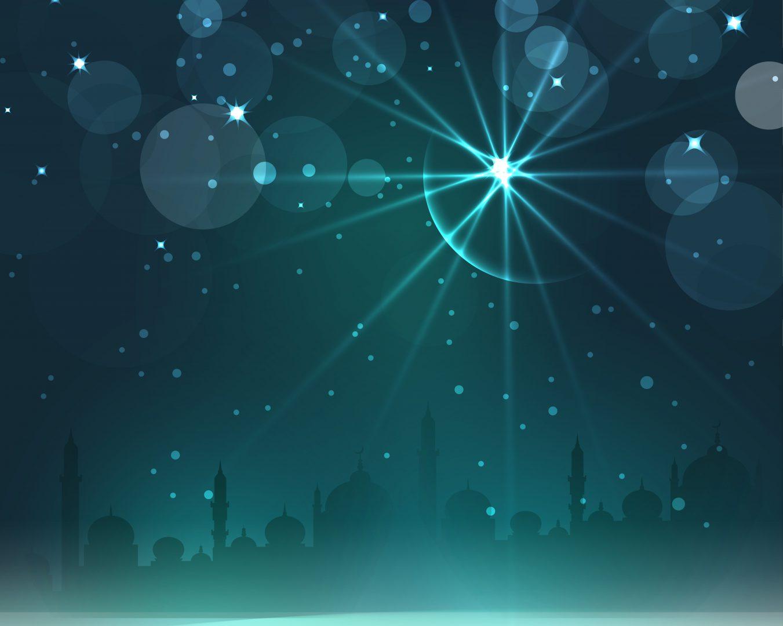 新月の夜のイメージイラスト